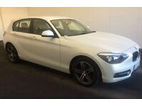 White BMW 116 d Sport 2013 Manual 5 door 74mpg FROM £45 PER WEEK!