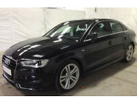 Black AUDI A3 SALOON 1.4 1.6 1.8 2.0 TDI Diesel S LINE FROM £67 PER WEEK!