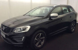 BLACK VOLVO XC60 2.4 D4 AWD R DESIGN LUX  2.0 SE 2WD G/T FROM £98 PER WEEK!
