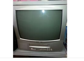 old television with built in vhs