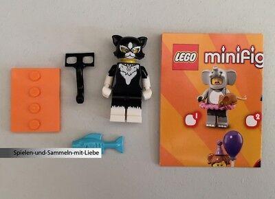 LEGO® MINIFIGUREN 71021 SERIE 18 - PARTY - MÄDCHEN IM KATZENKOSTÜM - NEU MIT BPZ