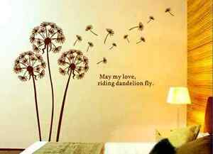 New Dandelion Flower Removable Wall Art Decal Stickers Mural Home Decor Sticker