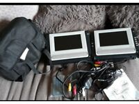 Twin portable DVD players