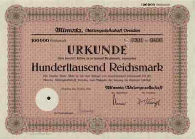 Mimosa AG 1943 Dresden Sachsen Köln Photopapier VEB Zeiss Ikon Hannover 100.000
