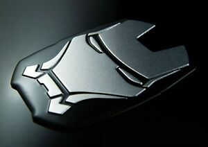 iron man 3d silver chrome emblem car truck decal metal. Black Bedroom Furniture Sets. Home Design Ideas