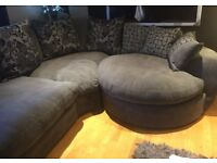 Large Corner Sofa and Swivel Chair (reduced to sell)