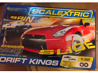 Scalextric Pro Drift Kings Car Racing Slide 360 Spin Full Size Set Rare Great Condition kids toys