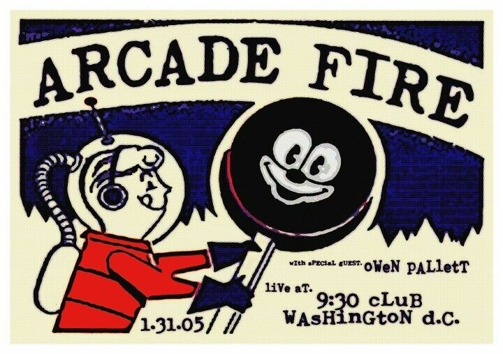 Arcade Fire POSTER Live in 2005  - VERY LARGE - Washington D.C. Concert