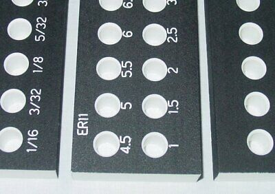 Er11 Collet Blank Or Engraved Inch Or Metric Set Storage Rack Tray Holder Stand