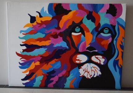 Large Lion Painting
