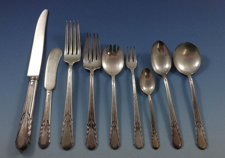 """Orchid by International Sterling Silver Salad Fork 6 3//8/"""""""