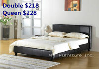 █☎100% BRAND NEW SOFT-LEATHER BED QUEEN/FULL!
