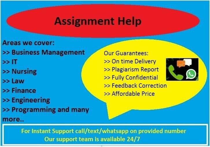 Assignment/Dissertation/Essay/Nursing/Programming/Business