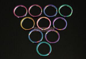 ROCKBROS-Titanium-Ti-Key-Chain-Key-Ring-Split-Ring-Rainbow-Finish-Size-S-10pcs