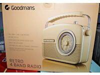 Goodmans Retro Radio. New in Box