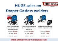 DRAPER GASLESS WELDER DEALS