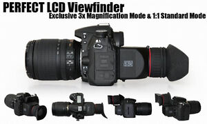 GGS DSLR 3x LCD Viewfinder Loupe Canon 5D MKII 5D2 Canon 6D Canon 7D Visor LCD