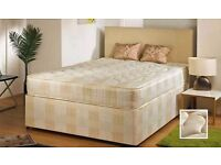 GET YOUR ORDER TODAY--New -- Double DIvan Bed + DEEP Quilt Mattress