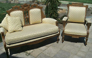 Antique Love Seat & Chair