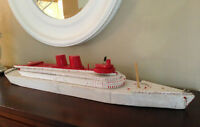Vintage 1950's Handmade Wooden Ship
