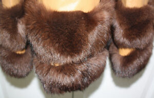 Women's Full Length Leather and Beaver Fur Coat Size Large London Ontario image 4