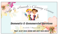 Sally and Amanda's Cleaning Service  Please call us 647-244-5533
