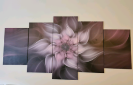 Purple canvas large giant wall art 2m x 1m