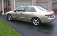 03' Honda Accord EX-L 4dr,V4,leather,fully Loaded,Great on Gas!!