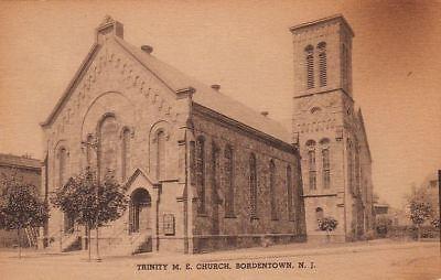 Postcard Trinity Me Church Bordentown Nj