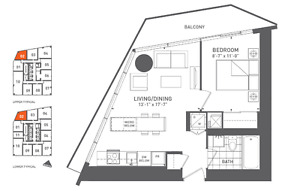 BRAND NEW ONE BEDROOM ASSIGNMENTS IN HARBOUR PLAZA