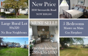 PRICE REDUCED!!!!! CITY IN THE FRONT – COUNTRY IN THE BACK!!!