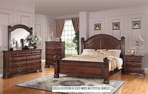 8PCS SOLID WOOD QUEEN SIZE BEDROOM SET ONLY $2299 LOWEST PRICE