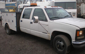 2000 CHEVY 3500 Service Utility Truck, diesel, dually, crew cab