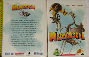 Qty 2 x Madagascar Movie Story Large Hard Cover Book London Ontario image 3