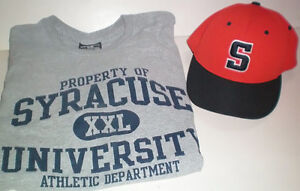 Syracuse University Orange Flexfit Pulse Cap and T Shirt