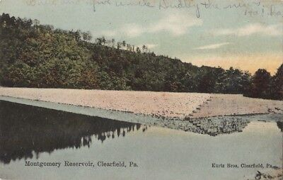 Postcard Montgomery Reservoir Clearfield Pa