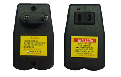 220V-->110V Mini Transformer Converter Step Down Voltage 220V To 110V 60Hz 15W