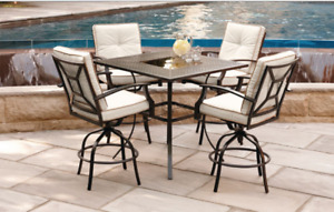 5 Piece High Dining/Patio Set. Assembly and Delivery available