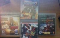 Jeux PS3 /UFC'10 ,Street Fighter IV ,GOW Collection ,Uncharted 3