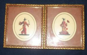 Japanese needlepoint pictures - set of two