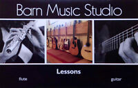 Guitar or Flute lessons @ the Barn Music Studio