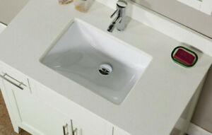 """Brand New Contemporary 36"""" White Bathroom Vanity sink cabinet wi"""