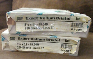 Wausau Exact Vellum Bristol Card Stock 250 Sheets 67lb (TAN)