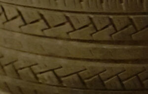 205-65-15 SIZE, 4 USED ALL SEASON TIRES | 40-50%TREAD FOR $100