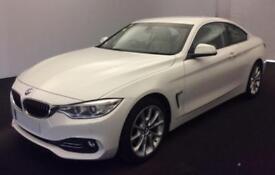 2015 WHITE BMW 420D 2.0 190 LUXURY DIESEL AUTO 2DR COUPE CAR FINANCE FR £75 PW