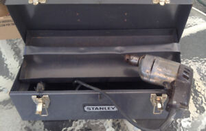 Stanley Tool Box, Drill. & Hand Tools included.