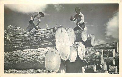 1940S Lumberjacks North Idaho Rppc Real Photo Postcard 9020
