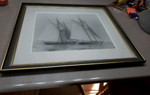 MacAskill framed photograph of the Bluenose and Henry Ford-$175