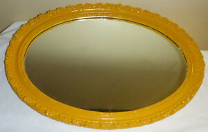 Antique Oval Wooden Mirror made in Hamilton by Artlight Co. Ltd.