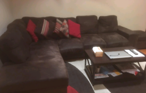 6 seater L-shaped couch